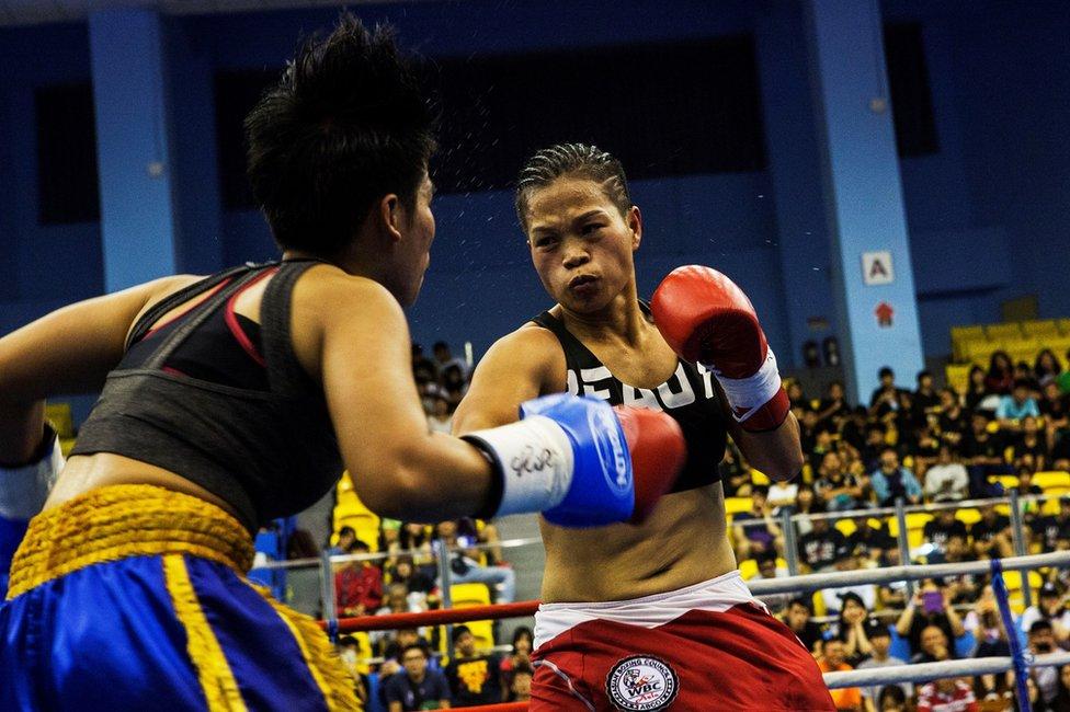 U borbi za zlatni pokjas protiv Huang bila je Tajlanđanka Jarusiri Rongmuang