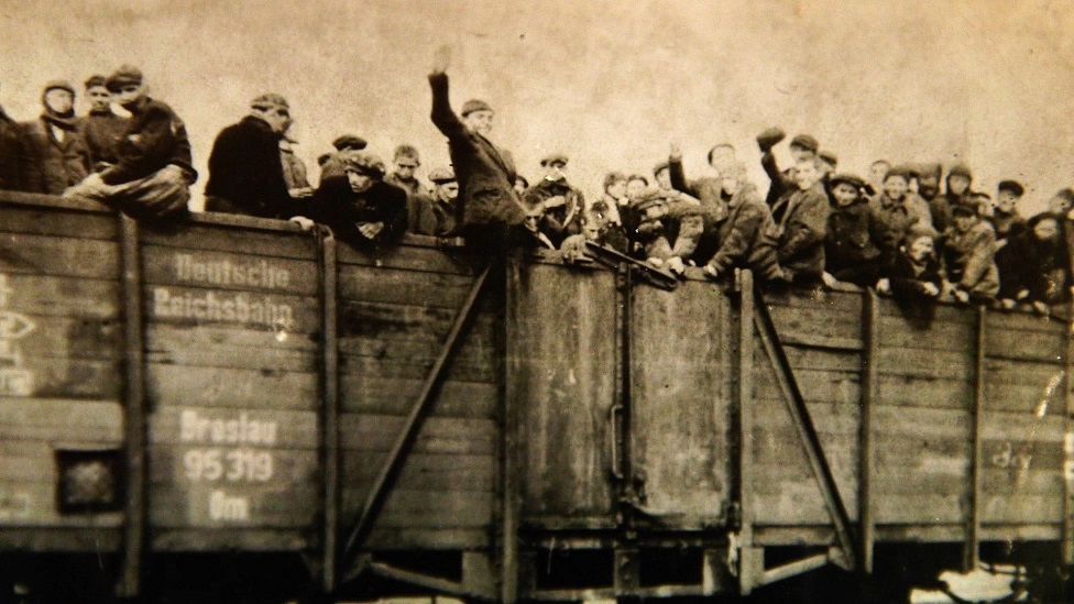Wagons full of concentration camp prisoners