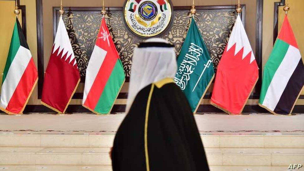 أعلام الدول الأعضاء بمجلس التعاون الخليجي