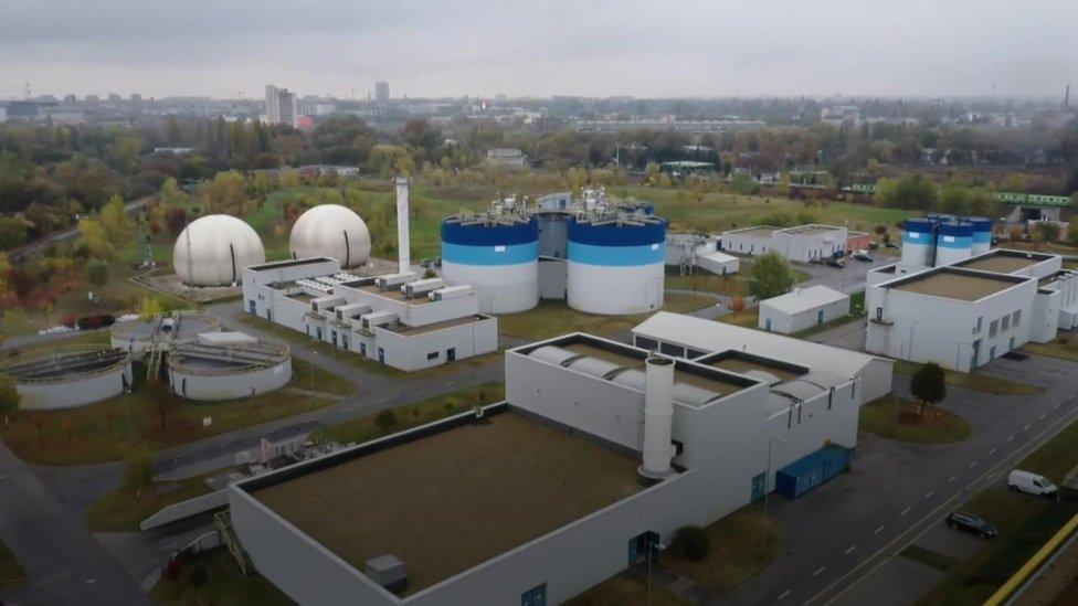 Una de las plantas de tratamiento de aguas residuales en Budapest