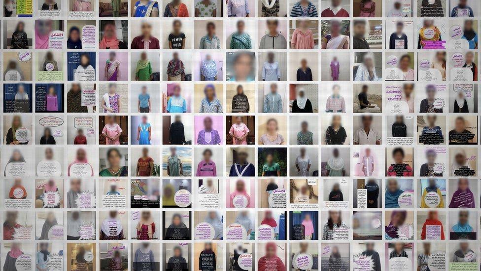 Fotos de algunas de estas mujeres puestas en venta.