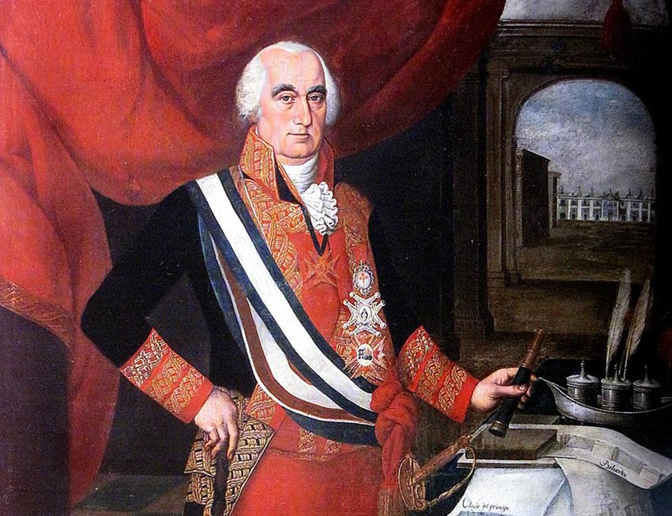 Retrato de José Fernando de Abascal por el artista Pedro Díaz
