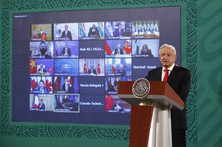 López Obrador en la Cumbre de Líderes Mundiales sobre Clima