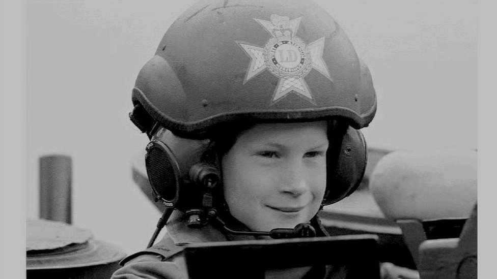 Prince Harry de niño.