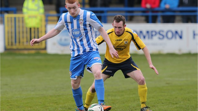 Action from Coleraine against Dungannon Swifts