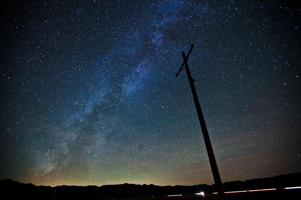 Imagen del cielo sobre California. EE.UU.