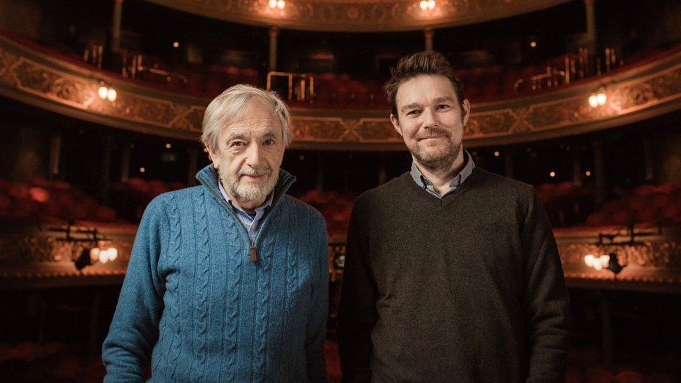 Bill Forsyth and David Greig at the Royal Lyceum Theatre in Edinburgh
