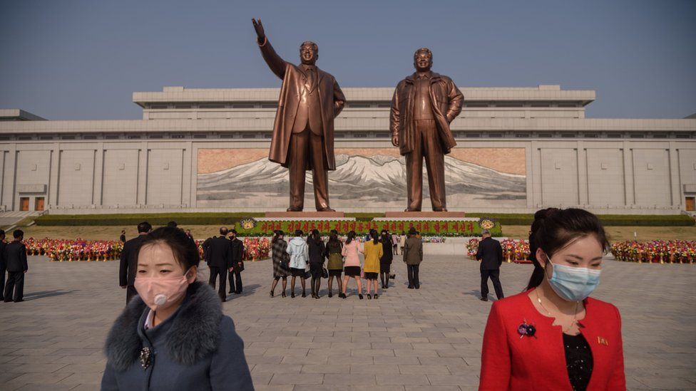 Celebration of Kim Il-sung's birth anniversary on 15 April