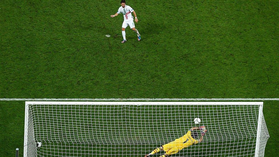 Penalti en un juego de fútbol