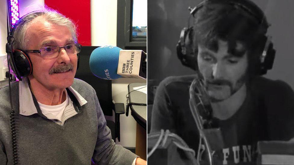 Stevenage shed radio DJ visits Radio Caroline