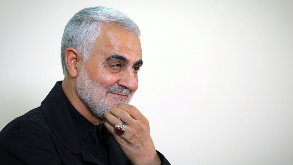 Image shows Qasem Soleimani