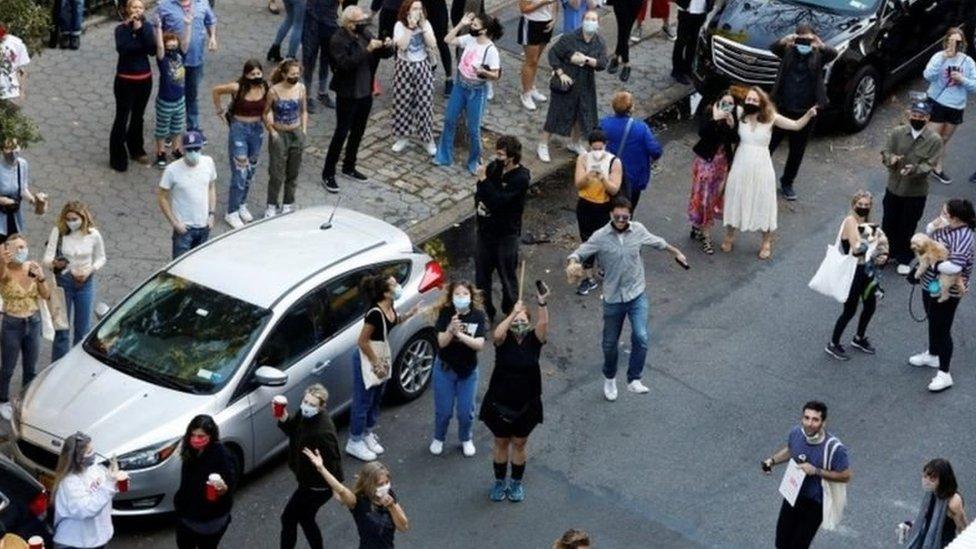 Perayaan di sejumlah kota termasuk di New York.