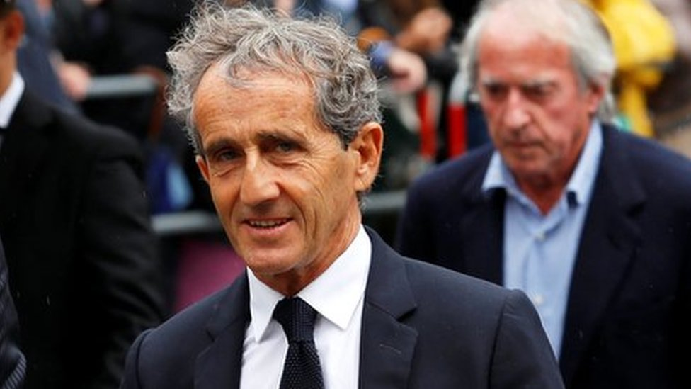 Former Formula One driver Alain Prost arrives to attend Niki Lauda's funeral ceremony at St Stephen's cathedral in Vienna, Austria