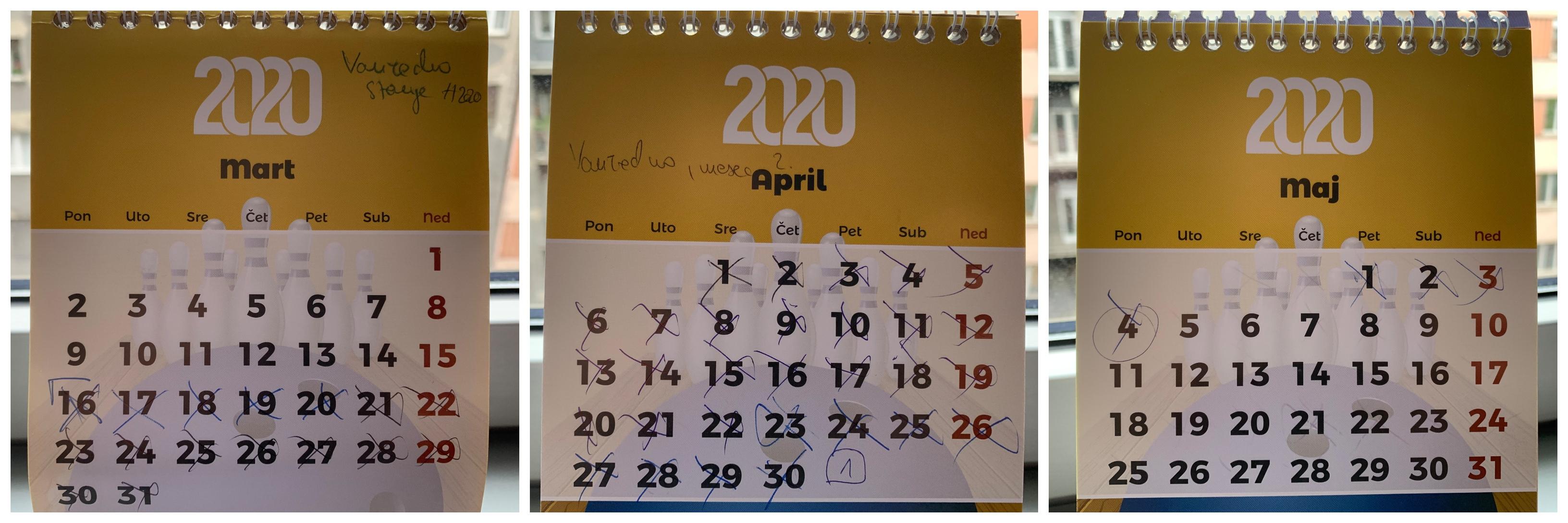 vanredni kalendar