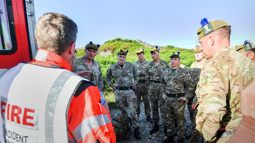 Soldiers from 4th Battalion Royal Regiment Scotland