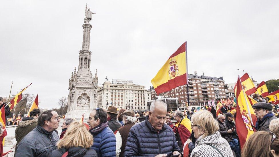 Colon square in Madrid