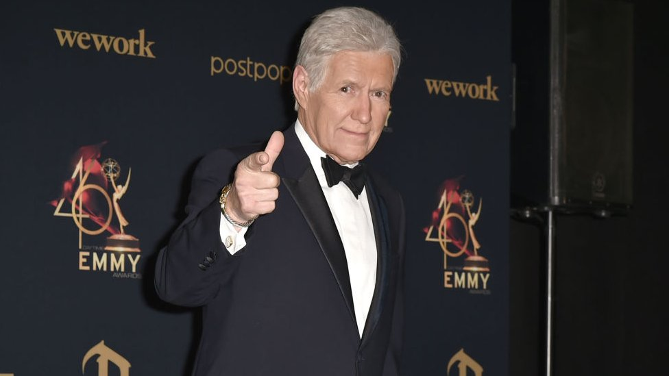 Alex Trebek, winner of the Outstanding Game Show Host award