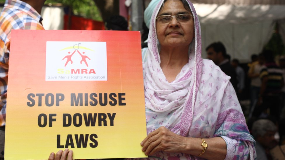 Protest against anti-dowry law