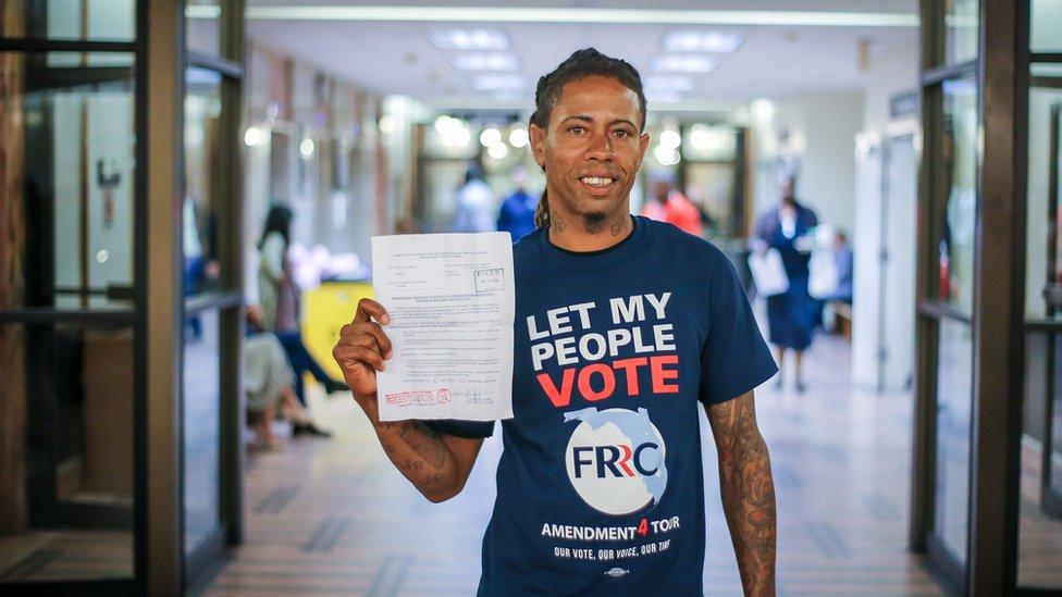 Michael Monfluery, activista por los derechos al voto de los ex convictos.