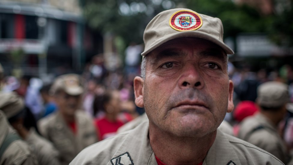 Gerardo Barahona at a pro-government rally in Caracas on 8 May 2017