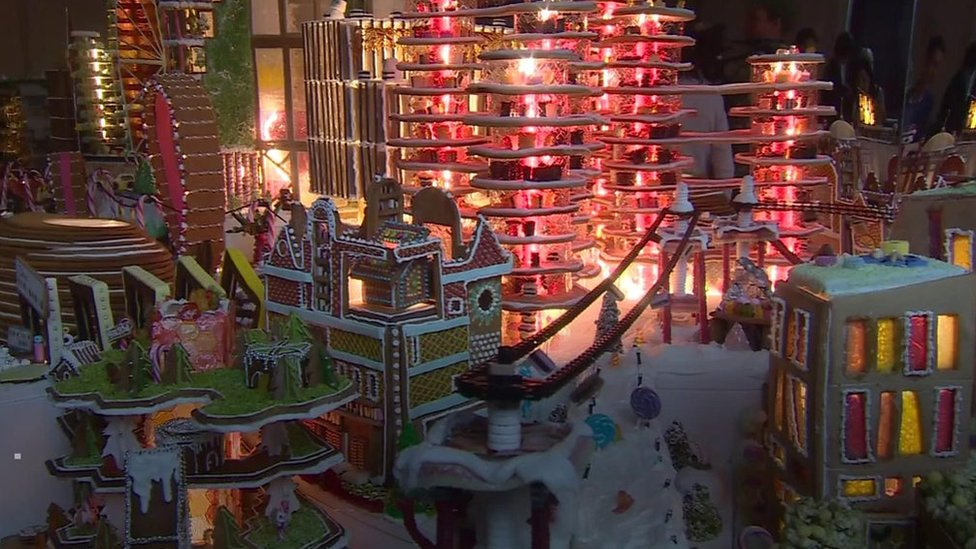 Architects create an ideal city made from gingerbread