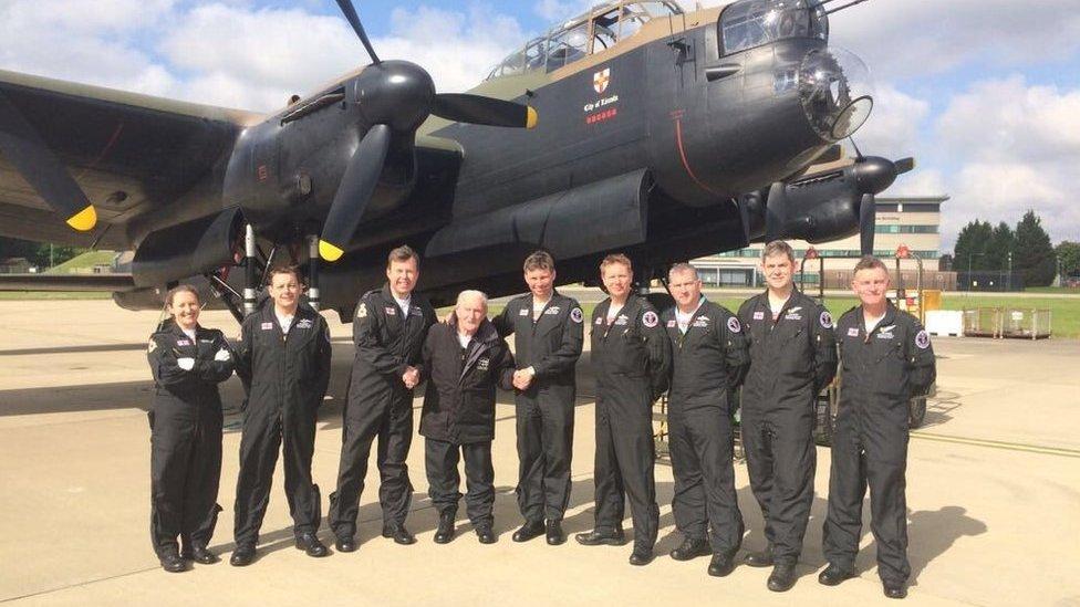 Dambuster flies over Derwent Valley in surprise Lancaster mission