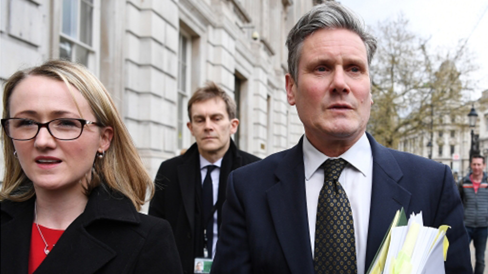 Rebecca Long-Bailey and Sir Keir Starmer
