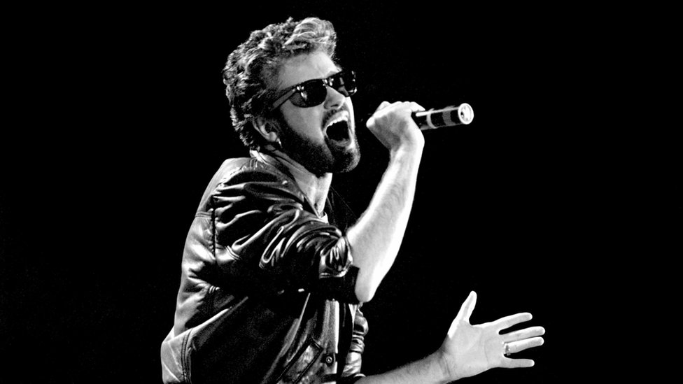 File photo dated 13/07/85 of George Michael of Wham performing at the Live Aid concert at Wembley Stadium in London