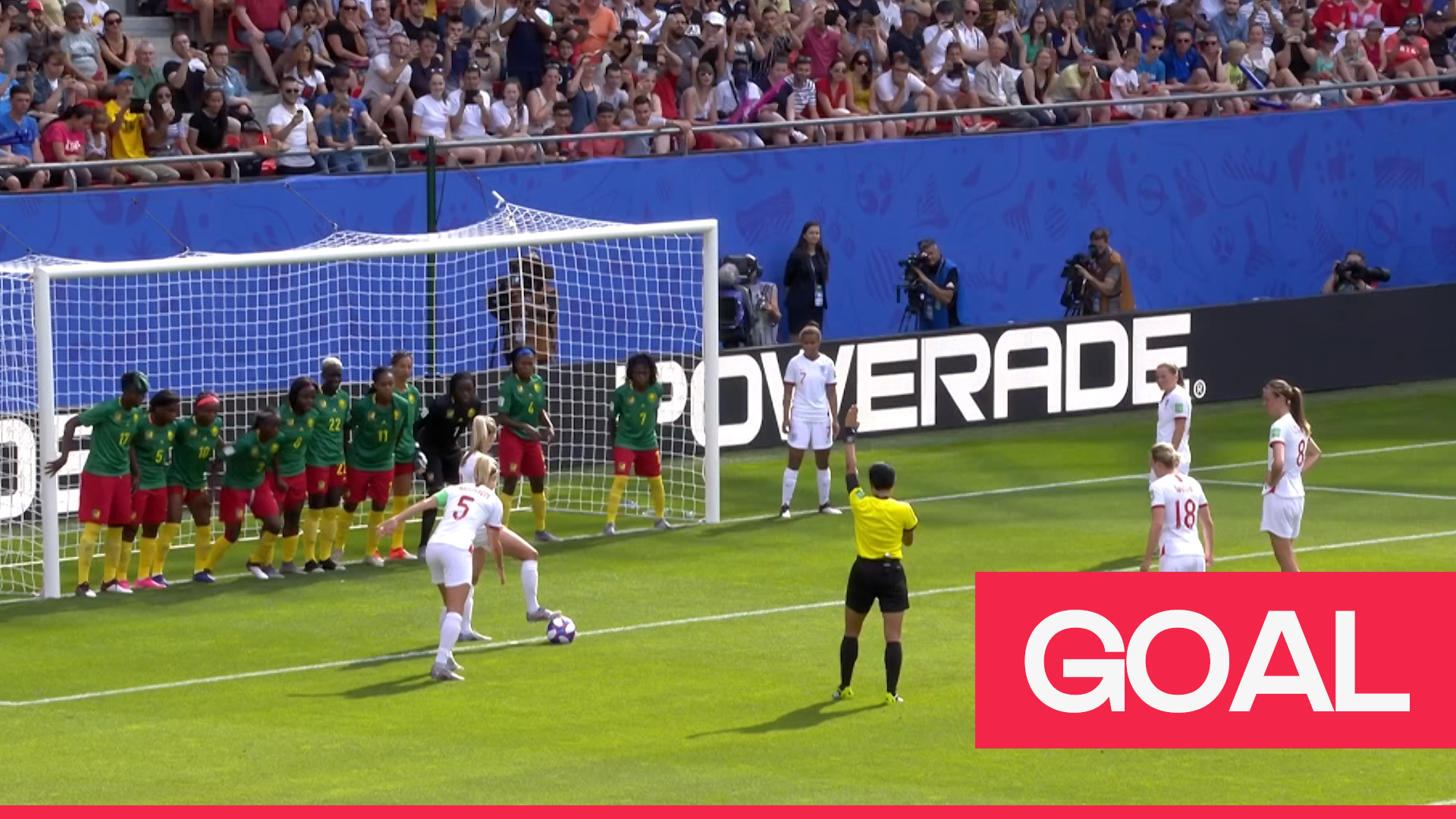 Women's World Cup 2019: Houghton smashes England into the lead from an indirect free kick