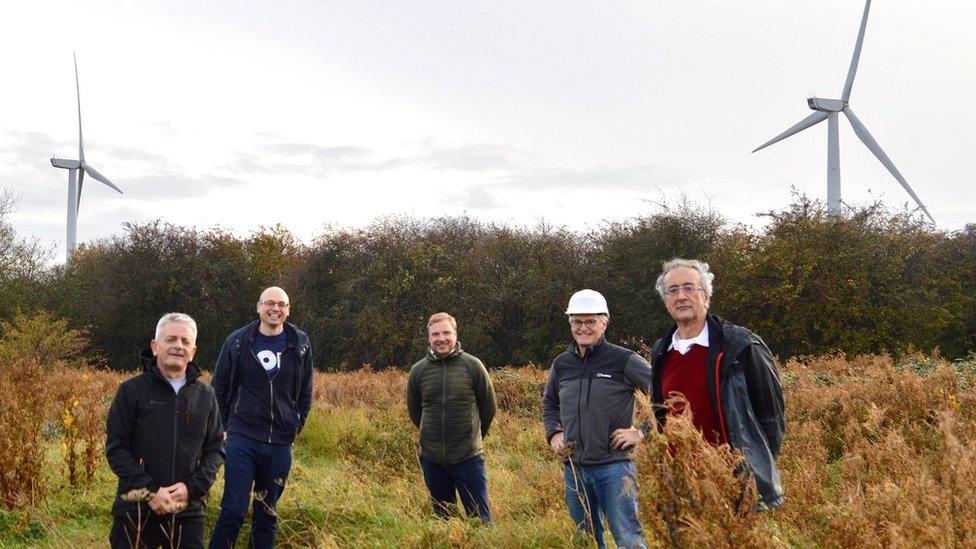 Left to right: Mark Pepper, David Tudgey, Kye Dudd, Dr Charles Gamble, Roger Sabido