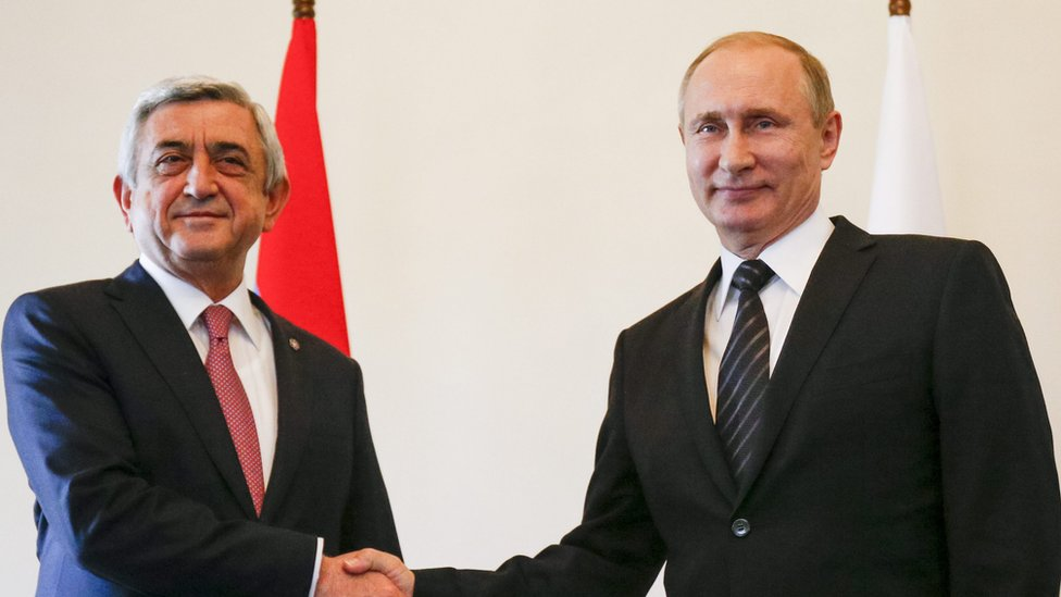 Serž Sargsяn, Vladimir Putin