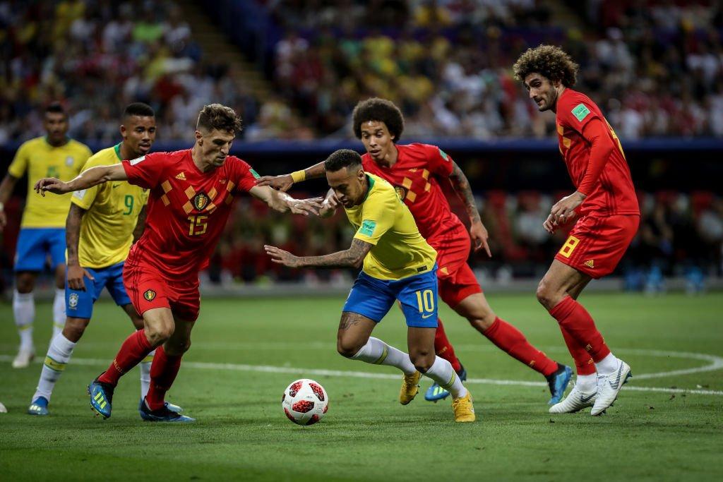 Una oda al fútbol fue lo que se vivió en el partido entre Brasil y Bélgica.