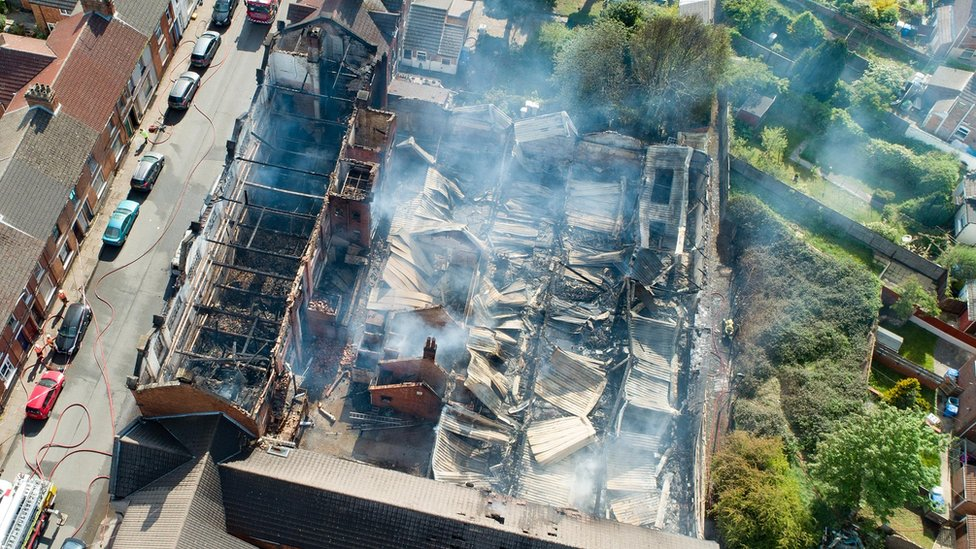 Kettering fire: Bed shop to be demolished while residents wait to return home