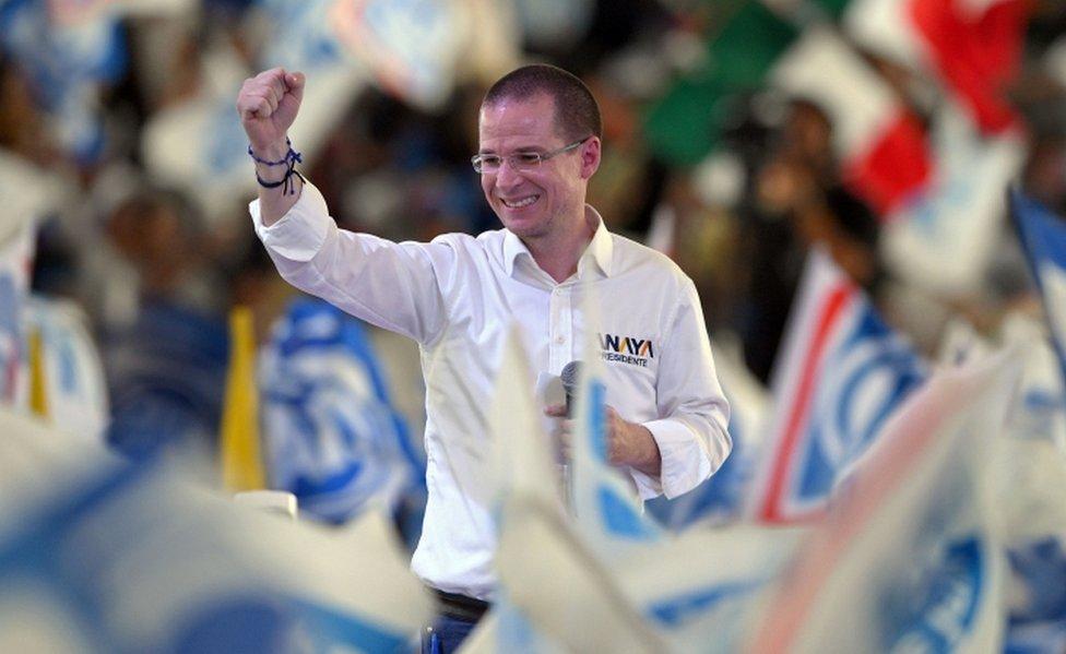 Ricardo Anaya, candidato del Frente.