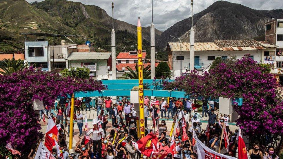 Pedro Castillo ganó en los Andes