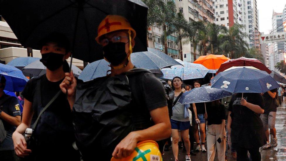 Demonstran di Hong Kong