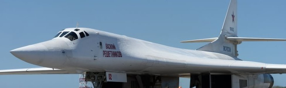 A Russian Tu-160 bomber near Caracas, Venezuela. Photo: 10 December 2018