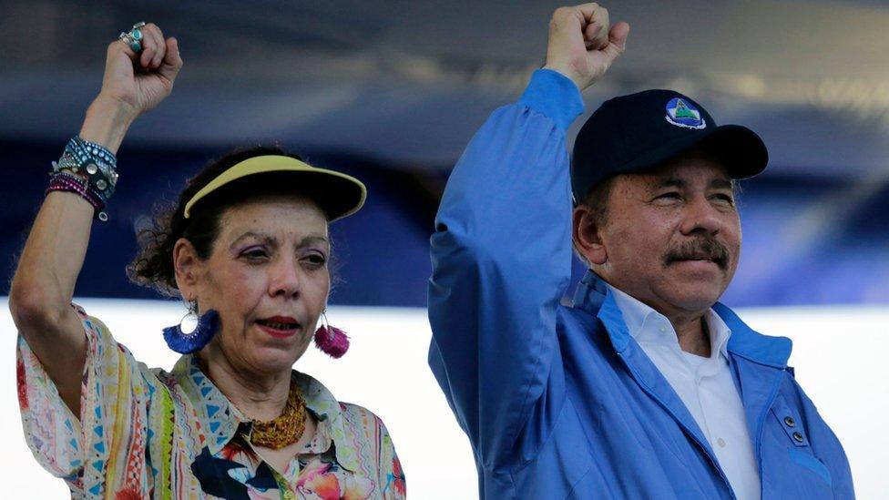El president Ortega y su esposa, la vicepresidenta Rosario Murillo, durante un evento en 2018 en Managua.