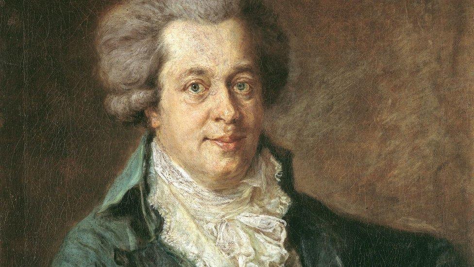 Johann Georg Edlinger's oil painting of Mozart