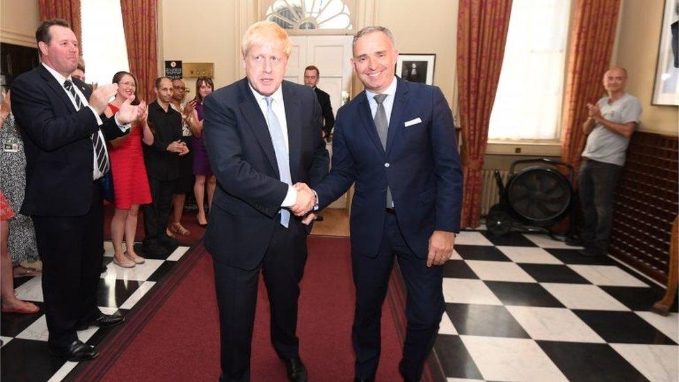 Boris Johnson and Mark Sedwill