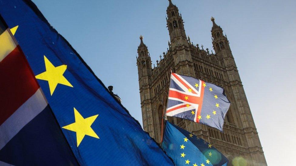 London i zastava EU i VB
