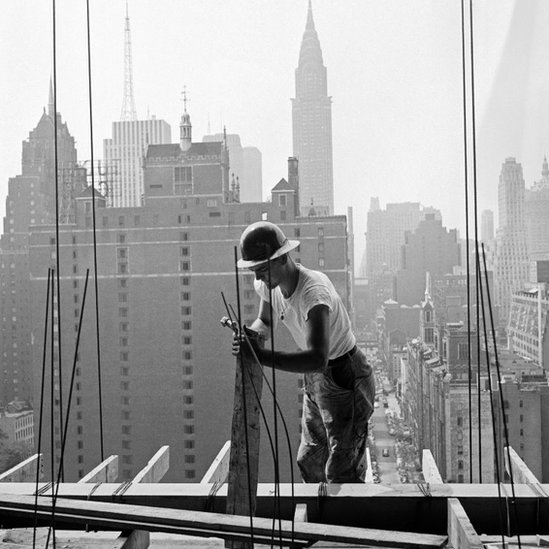 Construction of the UN HQ in New York in 1949
