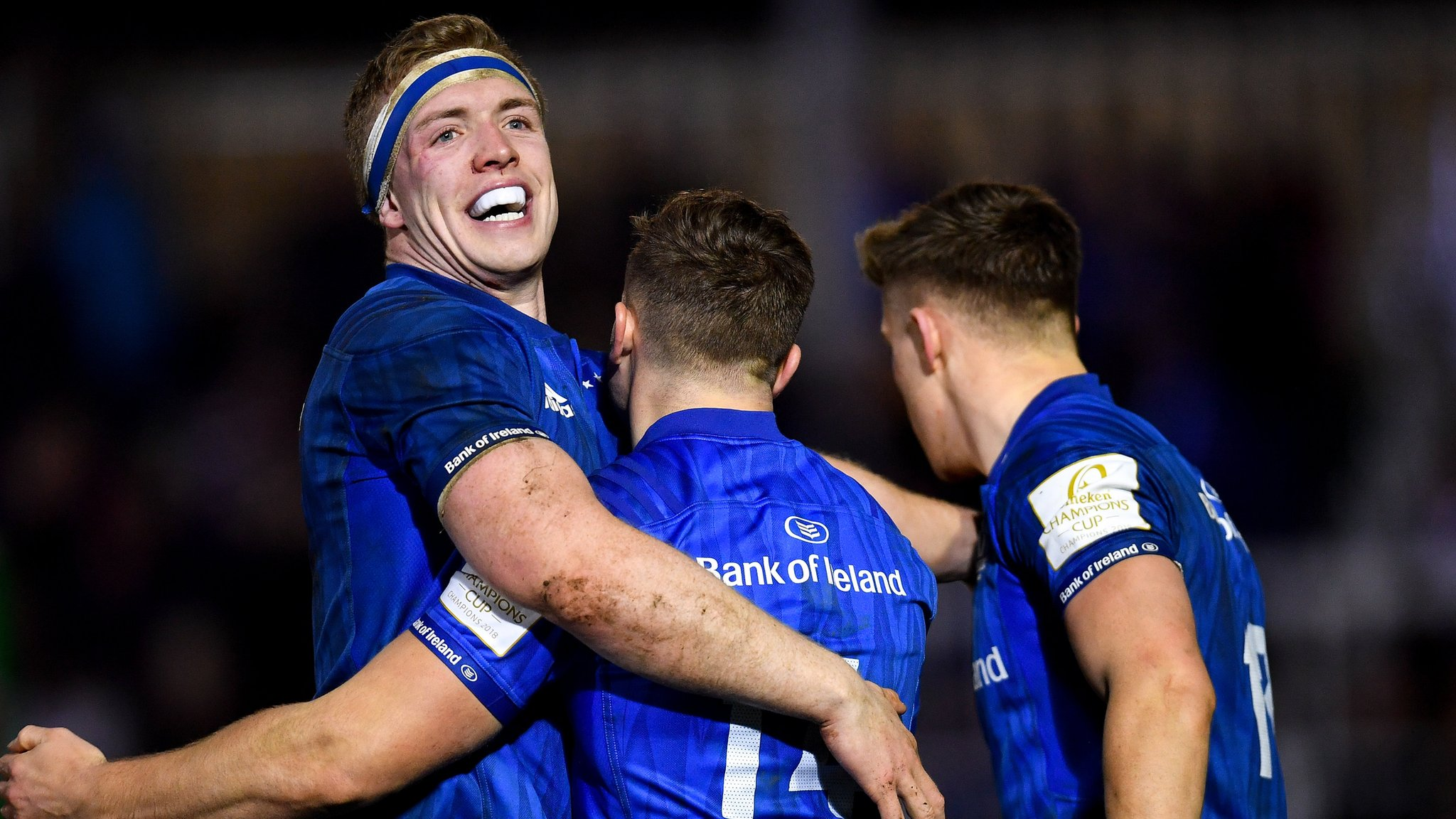 Larmour's interception try helps Leinster beat Bath