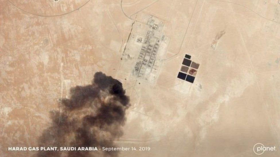 الهجوم على منشآت نفطية سعودية