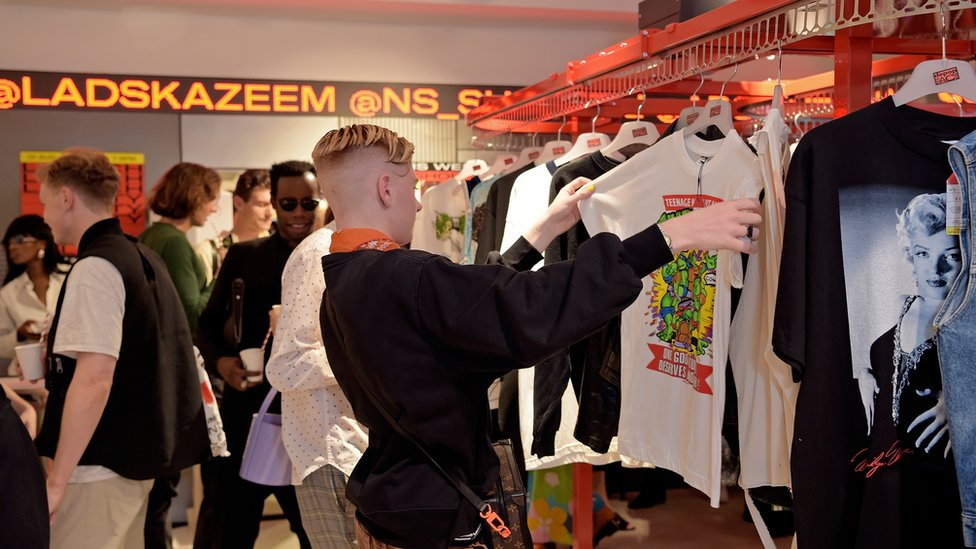 General view at the launch of social shopping app Depop's 3-month pop-up at Selfridges on August 01, 2019 in London, England.
