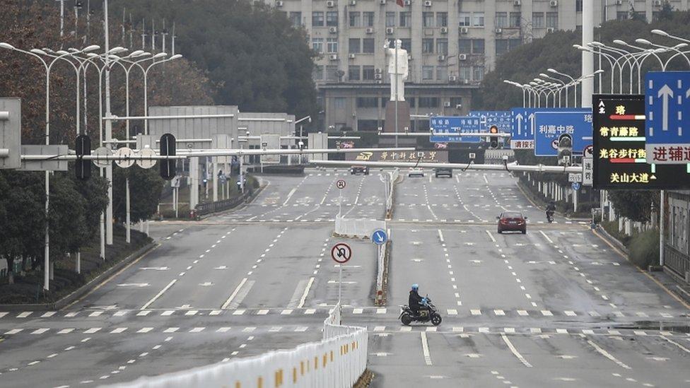 Wuhan streets left deserted