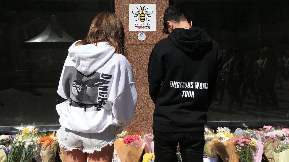 Ariana Grande 'sends love' on attack anniversary