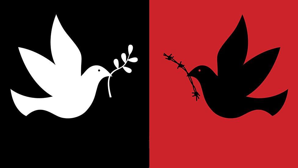 Palomas de paz y guerra