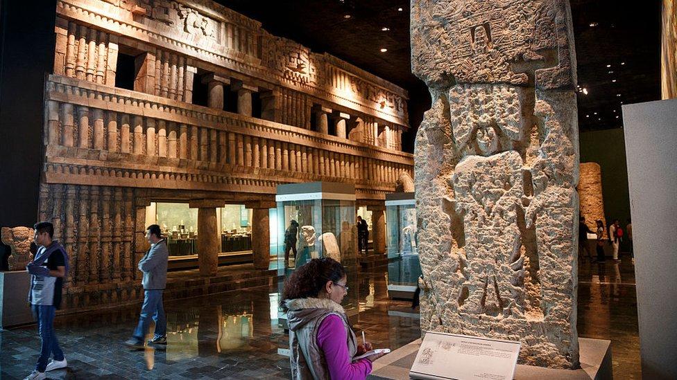 Sala maya del Museo Nacional de Antropología de México.