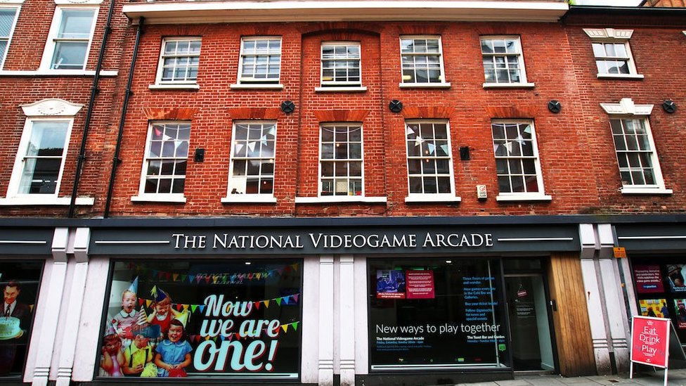 Front of National Videogame Arcade